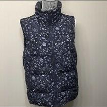 Gap Womens Puffy Navy Blue Vest Size Mt Photo