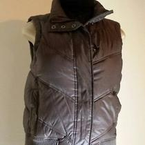 Gap Womens Quilted Puffy Vest-Brown  (Xs) Photo