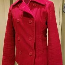 Gap Women's Red Corduroy Jacket/pea Coat Fully Lined Size Medium Photo