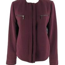 Gap Women's Red Maroon Cropped Long Sleeve Jacket Size Xs Photo
