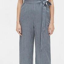 Gap Womens Ruffle Sleeveless Blue White Strip Tie Belt Jumpsuit Sz 18 Tall Nwt Photo
