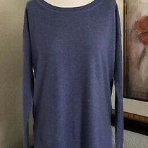 Gap Women's Scoop Neck Merino Wool Blend Tunic Sweater Purple Sz Small Tall  Photo