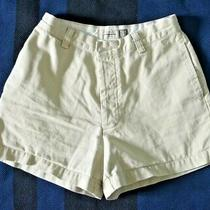 Gap Women's Size 6 Beige Khakis Relaxed Fit Button Fly Flat Front Cotton Shorts Photo