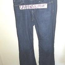 Gap Women's Size 8/29 Long Lean Stretch Mid Rise Blue Dark Wash Denim Jeans Photo