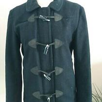 Gap Women's Size M Black Wool Lined Coat With Toggle Buttons and 2 Pockets New Photo
