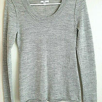 Gap Women's Size Xs Lightweight Gray Wool Pullover Sweater Long Sleeve Photo