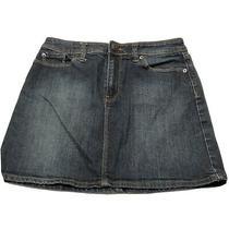 Gap Women's Stretch Jeans Skirt Mini Size 4 Dark Blue Denim Photo