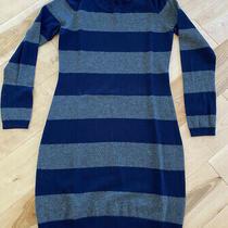 Gap Womens Striped Sweater Dress Navy/grey / Size Xs Photo