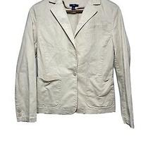 Gap Womens Sz L Khaki Casual Blazer Jacket Button Front Photo