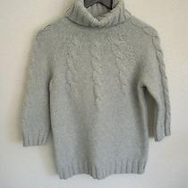 Gap Women's Turtle Neck Cable Knit Sweater Sz M Photo