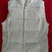 Gap Women's Vest M Puffer White zip.and Pockets Photo