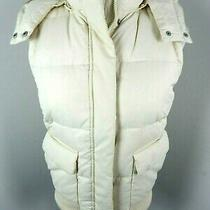 Gap Women's Vest Removable Hood Down Creme Size Xs Photo