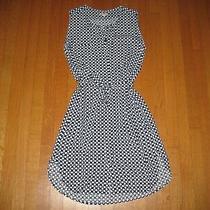 Gap Women's White Blue Polka Dot Sleeveless Sundress Dress Size Xs Photo