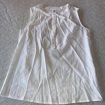 Gap Womens White Detailed Button-Up Sleeveless Shirt Size Xs Photo