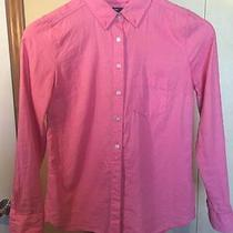 Gap Women's Xs Extra Small Pink Long Sleeve Button Down Blouse Shirt Photo
