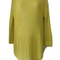 Gap Women's Yellow Knit Sweater Size Small Ribbed Round Hem  Photo
