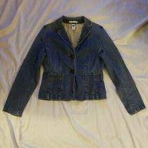 Gap Women Size 6 Stretch Denim Jacket With 2 Buttons. Mid Length Pre-Owned.  Photo