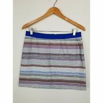 Gap Women Straight Skirt Size Small 5 Ethnic Multicolor Textured Striped Career  Photo