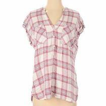 Gap Women Yellow Sleeveless Button-Down Shirt S Photo