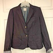 Gap Womens Academy Blazer Sz 4 Burgundy Tweed 2 Button Photo
