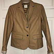 Gap Womens Academy Blazer Sz 4 Tan 2 Button Photo