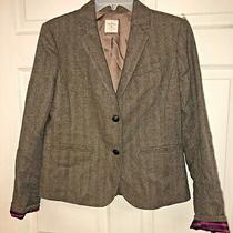 Gap Womens Academy Blazer Sz 4 Tweed 2 Button Photo