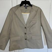 Gap Womens Blazer Size 6 Beige 3/4 Sleeve Photo