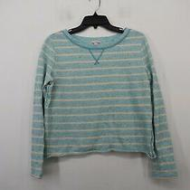 Gap Womens Blue Crew Neck Long Sleeve Comfort Fit Casual Striped T-Shirt M Photo