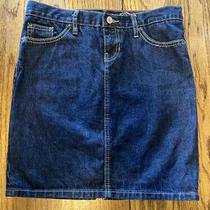 Gap Womens Blue Denim Jean Pockets Dark Wash Skirt Size 4 Photo