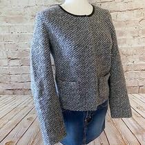 Gap Womens Boucle Wool Blend Dressy Jacket Size 6 Gray Full Zip Photo