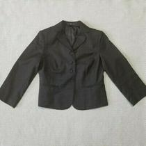 Gap Womens Charcoal Blazer With Shoulder Pads Size 4 New Photo