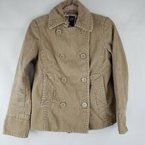 Gap Womens Corduroy Khaki Jacket Button Front Collared Size Small Lined  Photo