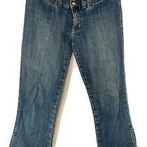 Gap Womens Cropped Jeans Capri Pants Blue Denim Extra Low Rise Sz 4 R Photo