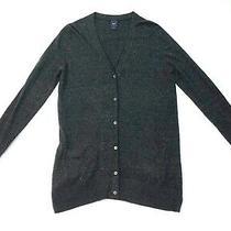 Gap Womens Dark Grey Buttoned Sample Cardigan v-Neck Front Pockets Size M Photo