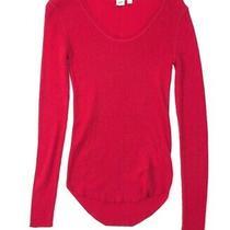 Gap Womens Dark Pink Stretch Sample Sweater Scoop Neck Size S Photo
