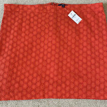 Gap Womens Eyelet Lace Skirt Orange Nwt Size 14 Defect on Side See Pictures Photo