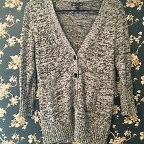 Gap Womens Grey Marled Cardigan Sweater Size Small Photo