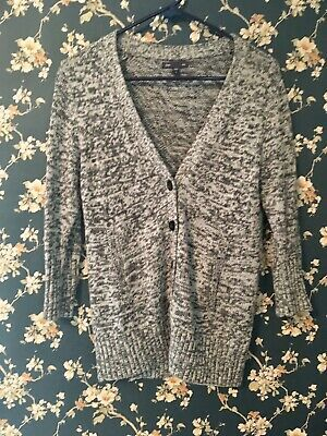 Gap Womens Grey Marled Cardigan Sweater Size Small Photo