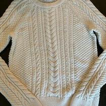 Gap Womens Ivory Cable Sweater Sz Xs. Euc Photo