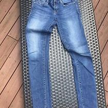 Gap Womens Jeans 1969 Always Skinny Size 27 Long Distressed Blue Photo