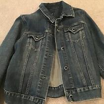 Gap Womens Jeans Jacket With Decorative Buttons Size M Photo