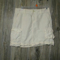 Gap Womens Juniors Size 1 Linen/cotton Mini Skirt Off White Photo