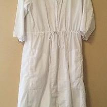 Gap Womens  Knit White Dress Size Small Calve Length Lined Photo
