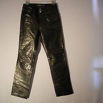 Gap Womens Leather Bike Pants Size 2.black Boot Cut Photo
