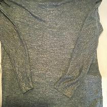 Gap Womens Lightweight Roll Neck Sweater Knit Hthr Blue Stripe Size Xs Photo