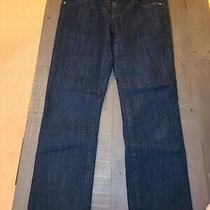 Gap Womens Mid-Rise Real Straight Fit Dark Wash Denim Blue Jeans Size 6 / 28r Photo