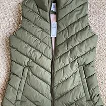Gap Womens Puffer Vest Size S Army Green New With Tags Photo