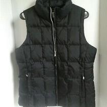 Gap Womens Puffer Vest Sleeveless Jacket Size M Medium Black Heavyweight Winter Photo
