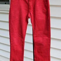 Gap Womens Size 1 Short Red Denim Bootcut Jeans 2000's Almost Vintage 27 X 28 Photo