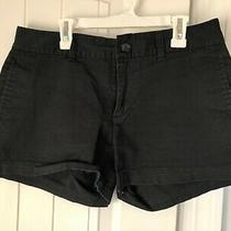 Gap Womens Size 4 Black Shorts 3 Inch City Short Stretch Mid Rise Shorts Photo